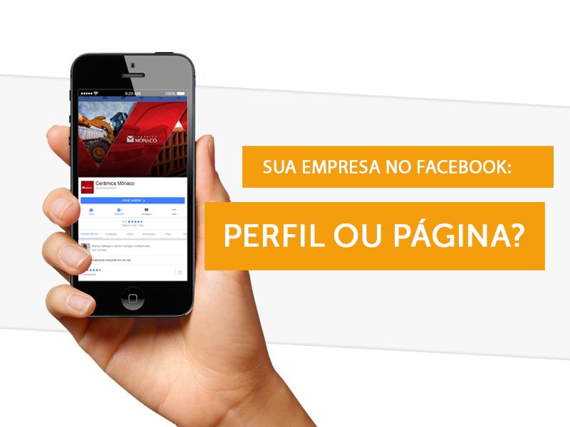 perfil ou página no Facebook