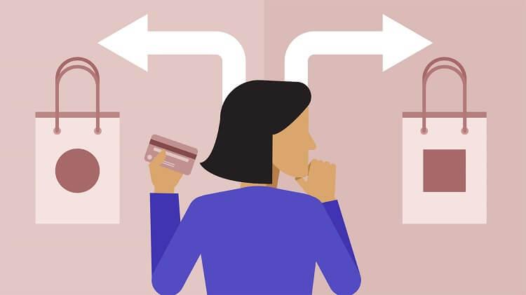 No estudo, os compradores tiveram que escolher o produto inserido em diferentes cenários nos quais foram aplicados todos ou alguns dos 6 vieses cognitivos.